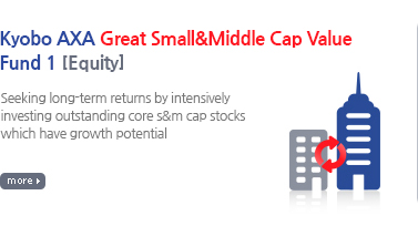 Kyobo AXA Great Small & Middle Cap Value Securities Feeder Investment Trust 1 [Equity] / Seeking stable returns by intensively excavating outstanding core s&m cap stockss having growth potential